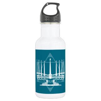Menorah and star IV Water Bottle