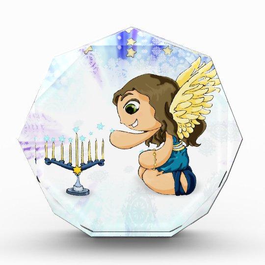 Menorah Angel Acrylic Award