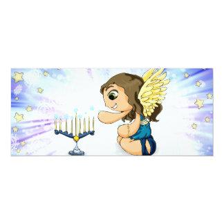 Menorah Angel Card