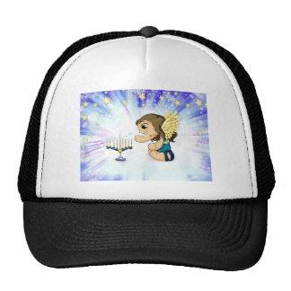 Menorah Angel Trucker Hat
