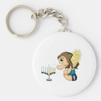 Menorah Angel Keychain