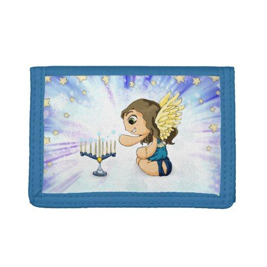 Menorah Angel Tri-fold Wallet