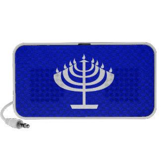 Menorah azul iPhone altavoces