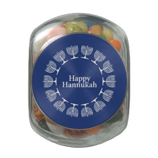 Menorah Background Jelly Belly Candy Jars