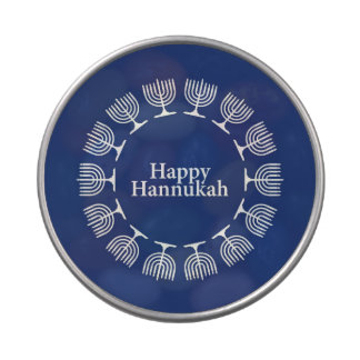 Menorah Background Jelly Belly Candy Tin