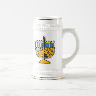 Menorah Beer Stein