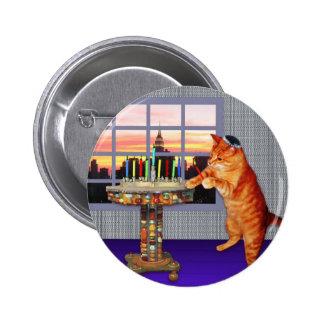 Menorah Cat Button