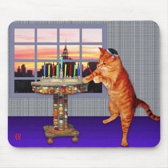 Menorah Cat Mouse Pad
