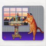 Menorah Cat Mousepads