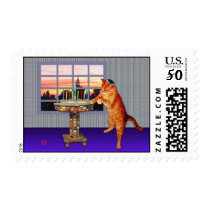 menorah cat postage