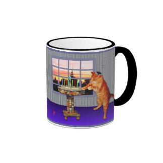 Menorah Cat Ringer Mug