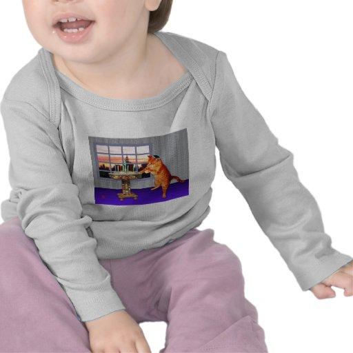 Menorah Cat Tshirt