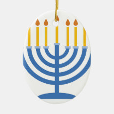 Menorah Ceramic Ornament at Zazzle