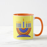 """Menorah Design Hanukkah Gift Mugs<br><div class=""""desc"""">Happy Hanukkah. Menorah Design Hanukkah Gift Mugs. Matching cards,  postage stamps and other products available in the Jewish Holidays / Hanukkah Category of our store.</div>"""