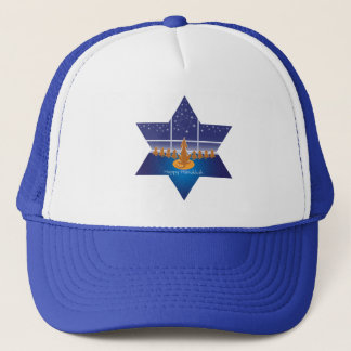 Menorah Dogs_Happy Hanukkah_Star of David Trucker Hat