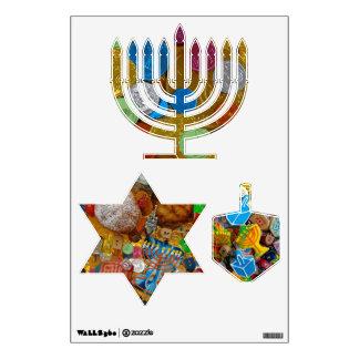 Menorah, Dreidel, & Star of David Wall Sticker