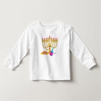 Menorah & Dreidel Toddler Long Sleeves Flowy Shirt
