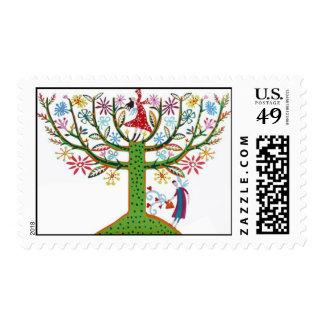 Menorah Family Tree Postage