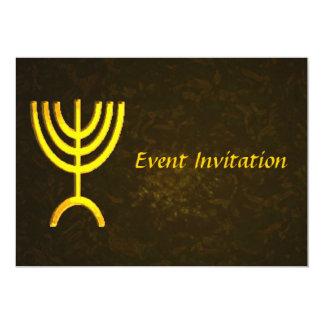 "Menorah Flame 5"" X 7"" Invitation Card"