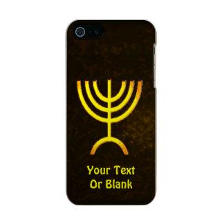 Menorah Flame Metallic Phone Case For iPhone SE/5/5s