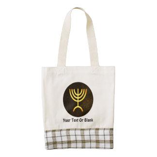 Menorah Flame Zazzle HEART Tote Bag