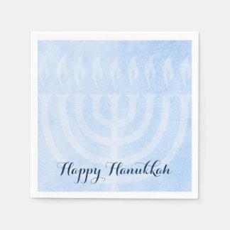Menorah Glow Hanukkah Standard Cocktail Napkin