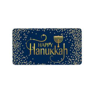 Menorah Happy Hanukkah Label