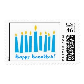Menorah - Happy Hanukkah! - Postage