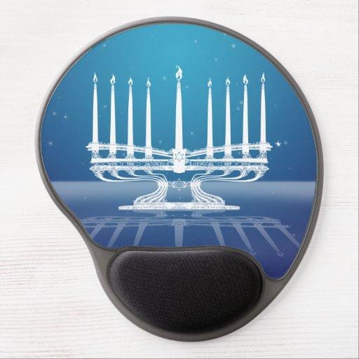 Menorah iluminado II Alfombrilla Con Gel