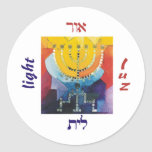 Menorah Light Classic Round Sticker