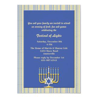 Menorah Lights Holiday Invitation