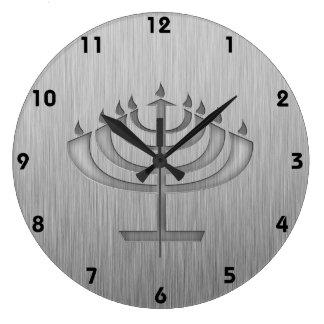 Menorah; Metal-mirada cepillada Relojes