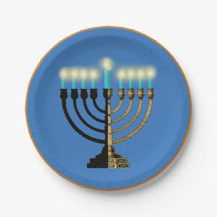 Menorah Paper Plate  sc 1 st  Zazzle & Hanukkah Plates | Zazzle