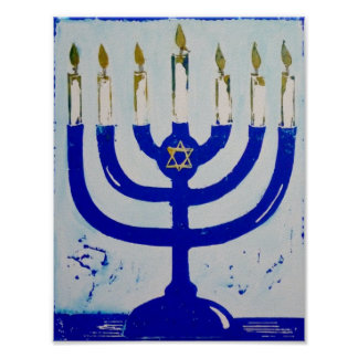 Menorah Poster, 8.5 x 11 Inches Poster