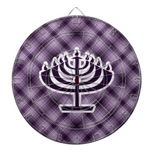 Menorah púrpura tablero dardos