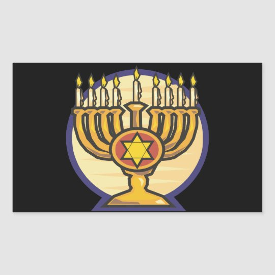 Menorah Rectangular Sticker