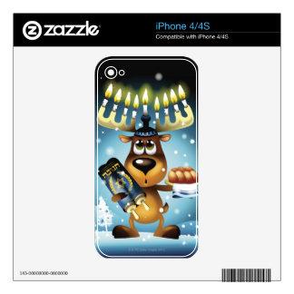 Menorah Reindeer Decal For iPhone 4