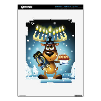 Menorah Reindeer iPad 3 Decal