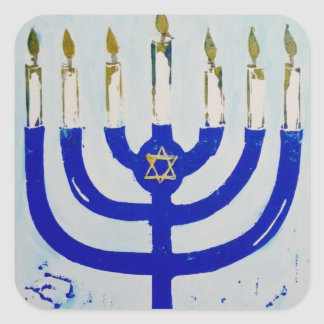 Menorah Square Stickers