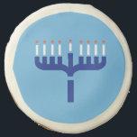 """Menorah Sugar Cookie<br><div class=""""desc"""">Hanukkah menorah</div>"""