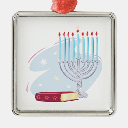 Menorah Torah Christmas Ornament