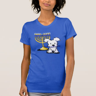 Menorah Westie Puppy T Shirt