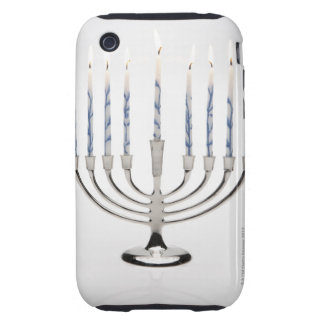 Menorah with burning candles iPhone 3 tough cover