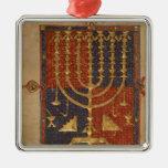 Menorah y otros buques del templo ornamento para arbol de navidad