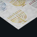 """Menorahs & Stars Of David - Tissue Paper<br><div class=""""desc"""">Tissue Paper with gold,  blue,  copper,  and silver Menorahs & White Gold Star Of Davids on White. Check out matching wrapping paper,  gift boxes,  and other items.</div>"""
