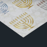 "Menorahs & Stars Of David - Tissue Paper<br><div class=""desc"">Tissue Paper with gold,  blue,  copper,  and silver Menorahs & White Gold Star Of Davids on White. Check out matching wrapping paper,  gift boxes,  and other items.</div>"