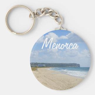 Menorca Beach of Son Bou Souvenir Basic Round Button Keychain
