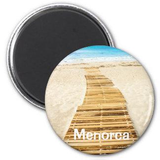 Menorca Boardwalk to the Sea Souvenir Magnet