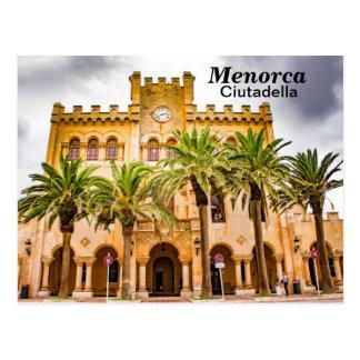 Menorca Ciutadella Town Hall Postcard