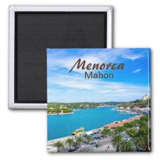 Menorca Mahon Port 2 Inch Square Magnet